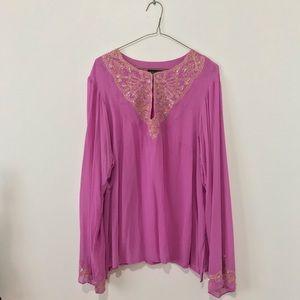 Lavender Tunic Sequin Top